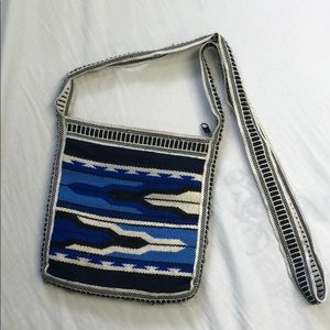 Aztec Patterned knit bag